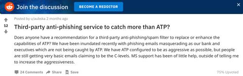 ATP missing phishing reddit