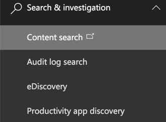 content-search-investigation