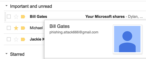 gmail phishing example