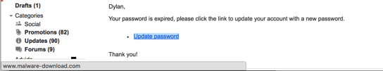 example of a gmail phishing attack