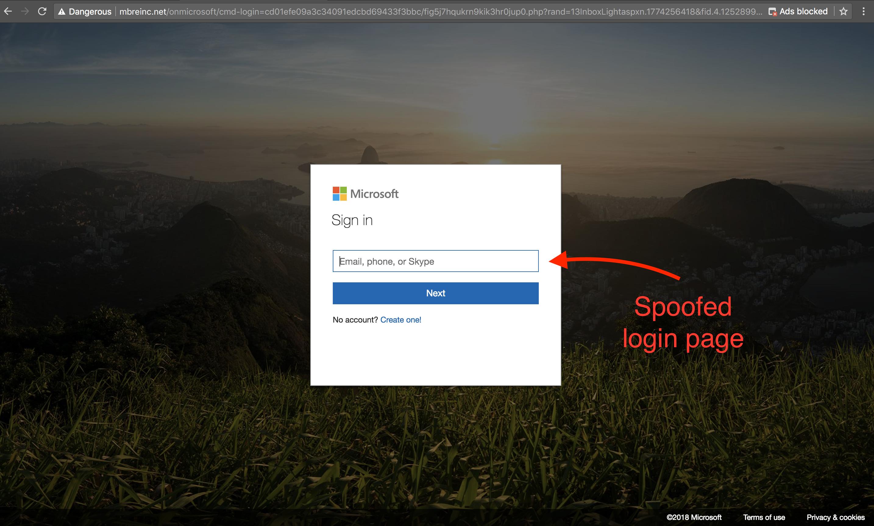 SpearPoint-spoofed-Office-365-login