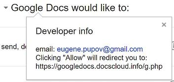 Google Docs Attack Developer