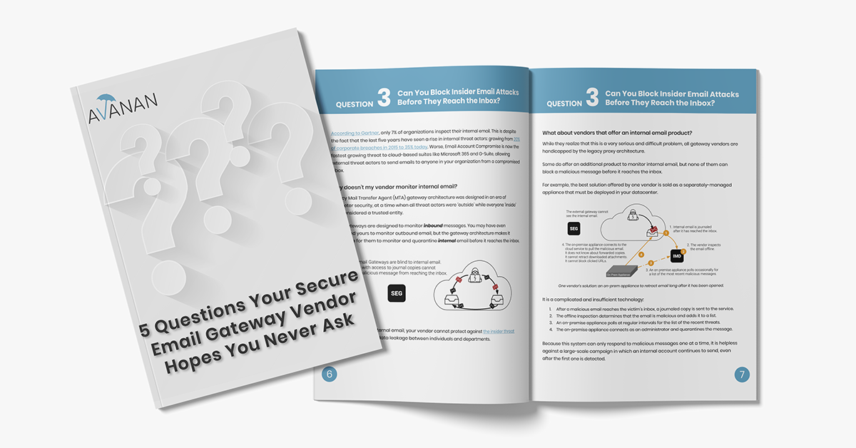 5 Questions Your Secure Email Gateway Vendor Hopes You Never Ask