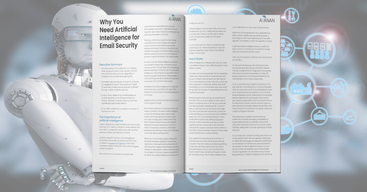 Why You Need Artificial Intelligence for Email Security
