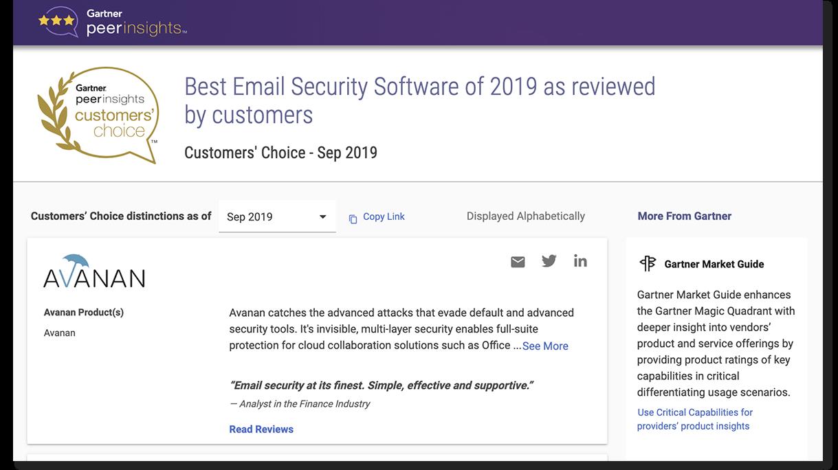 2019 Customers' Choice