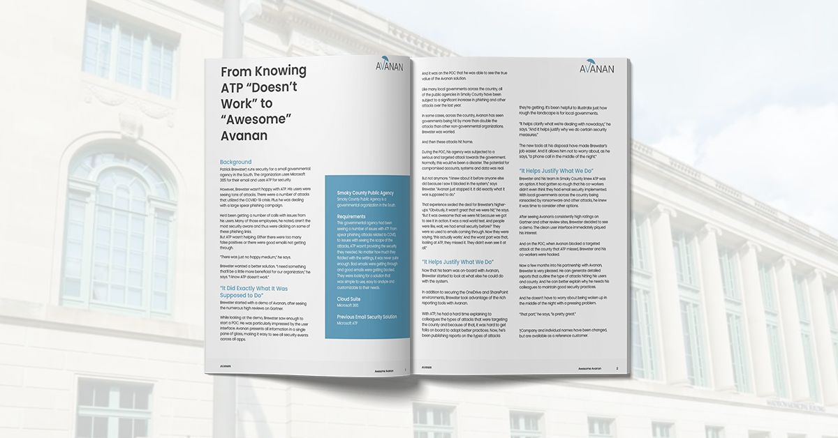 """From Knowing ATP """"Doesn't Work"""" to """"Awesome"""" Avanan"""