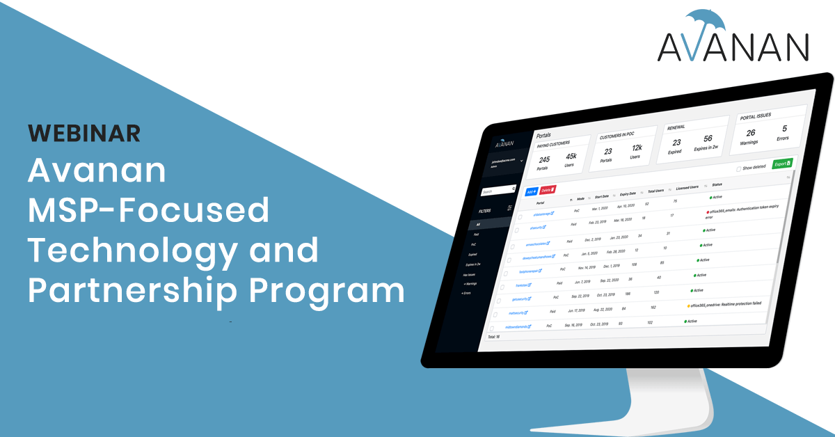 Avanan MSP-Focused Technology and Partnership Program